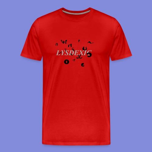 Lysdexic - Miesten premium t-paita