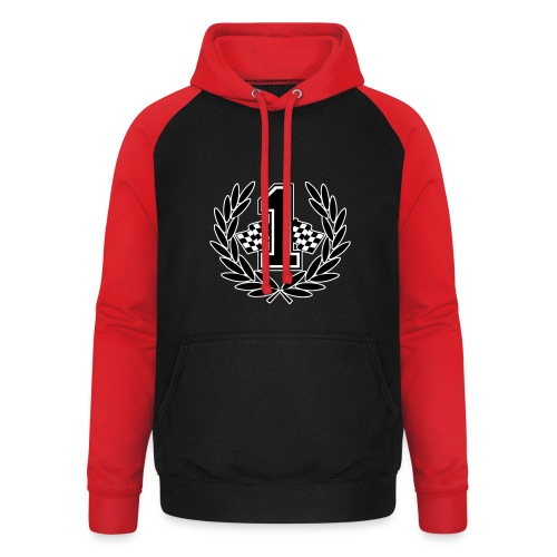 Racing team number one - Unisex Baseball Hoodie