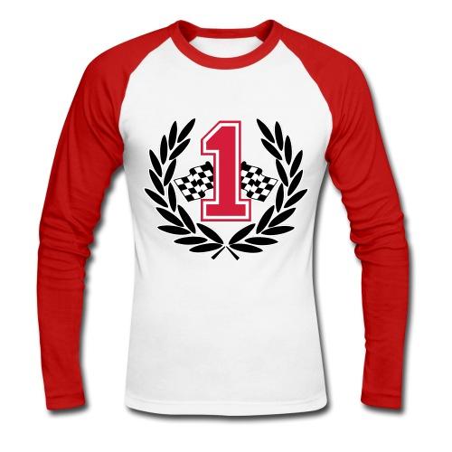 Racing team number one - Men's Long Sleeve Baseball T-Shirt