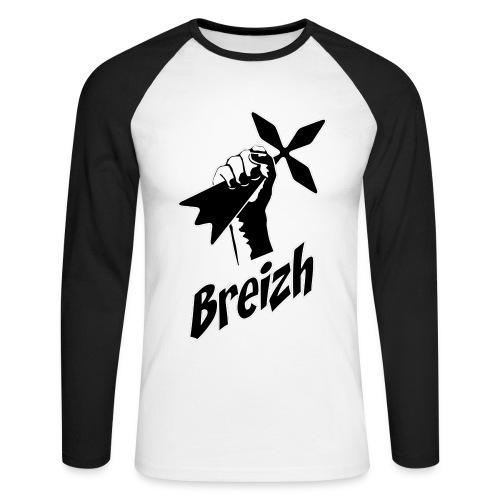Breizh power - T-shirt baseball manches longues Homme