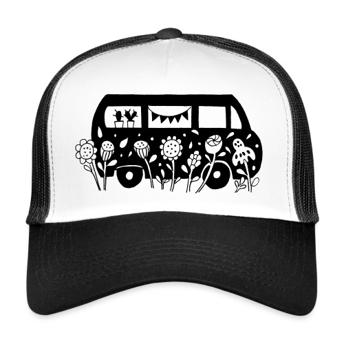 Flower Power Bus  - Trucker Cap
