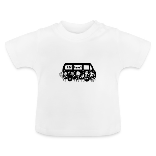 Flower Power Bus - Baby T-Shirt