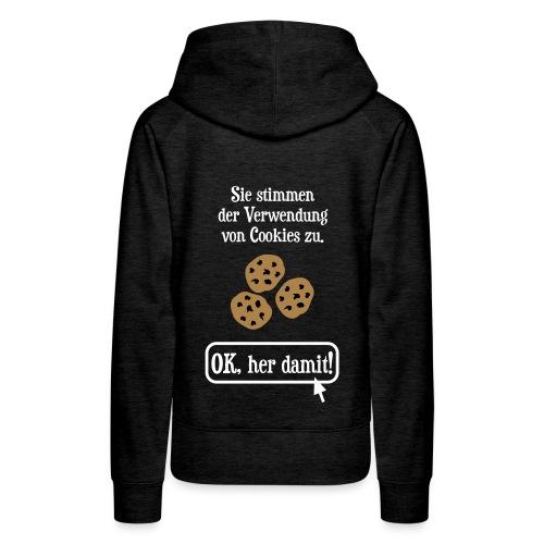 Cookie Hinweis Internet Nerd Spruch Pullover & Hoodies - Frauen Premium Hoodie