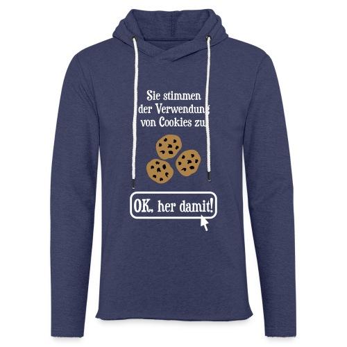 Cookie Hinweis Internet Nerd Spruch Pullover & Hoodies - Leichtes Kapuzensweatshirt Unisex