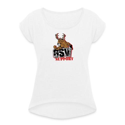 Shirt GSV Support - Frauen T-Shirt mit gerollten Ärmeln