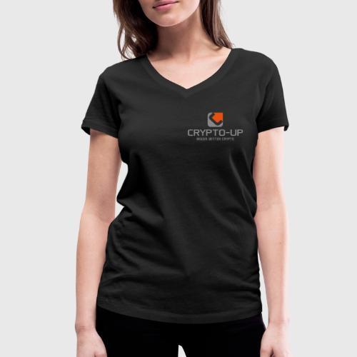 CryptoUp - Bigger-Better-Crypto - Frauen Bio-T-Shirt mit V-Ausschnitt von Stanley & Stella