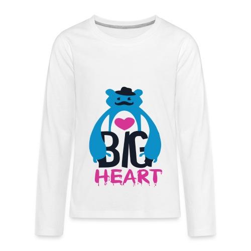 Big Heart - Teenagers' Premium Longsleeve Shirt
