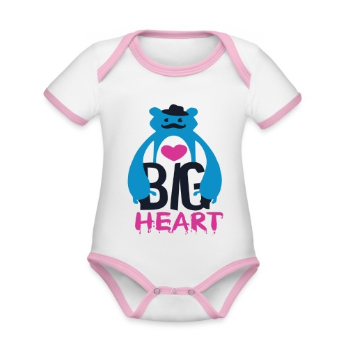 Big Heart - Organic Baby Contrasting Bodysuit