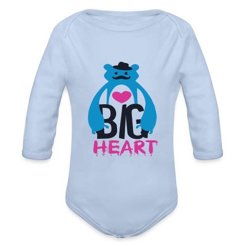 Big Heart - Organic Longsleeve Baby Bodysuit