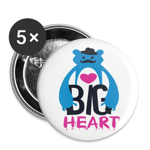 Big Heart - Buttons large 2.2''/56 mm(5-pack)