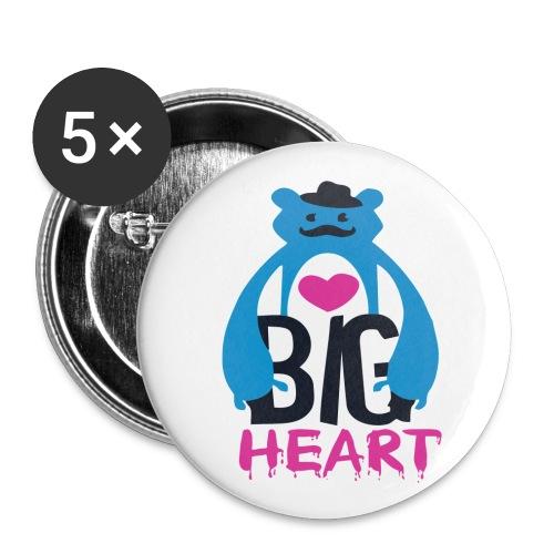 Big Heart - Buttons medium 1.26/32 mm (5-pack)