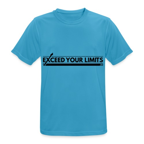 Trainingsshirt - exceed your limits - Männer T-Shirt atmungsaktiv