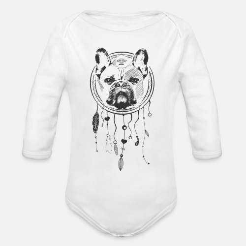 French Bulldog Dream - Baby Bio-Langarm-Body
