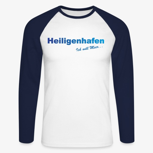 Heiligenhafen vorne groß Männer Baseballshirt langarm - Männer Baseballshirt langarm