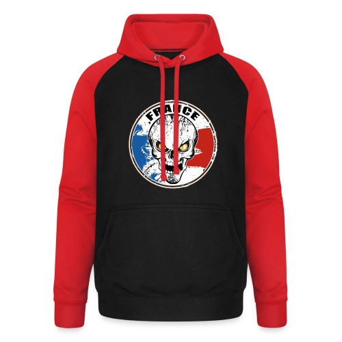 France skull - Sweat-shirt baseball unisexe