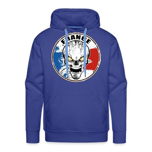 France skull - Sweat-shirt à capuche Premium pour hommes