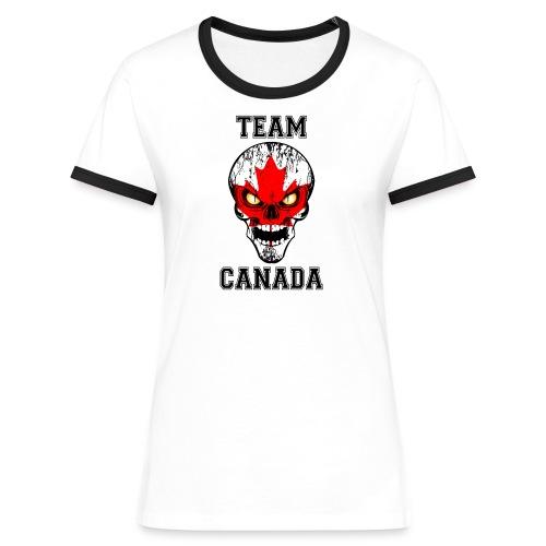 Team Canada - T-shirt contrasté Femme