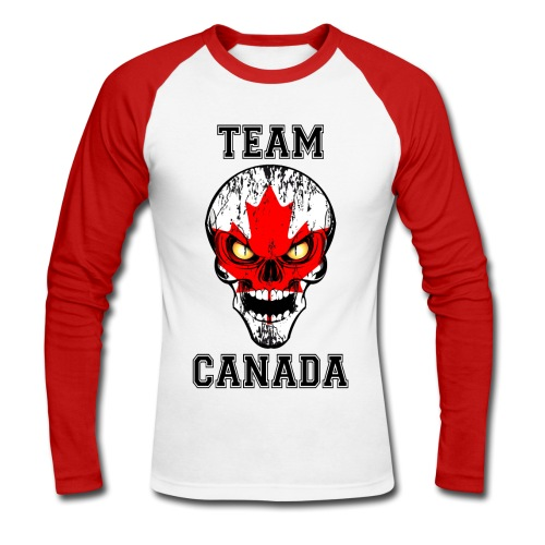 Team Canada - T-shirt baseball manches longues Homme