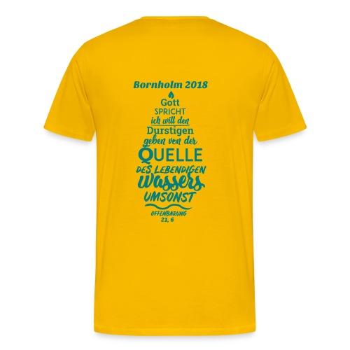 Teilnehmer Shirt Bornholm 2018 - Männer Premium T-Shirt