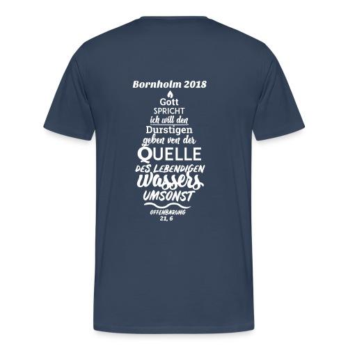 Teilnehmer Shirt Bornholm 2018 - Schrift weiß - Männer Premium T-Shirt