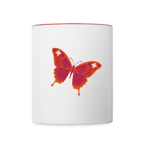 Papillion Suisse - Tasse zweifarbig