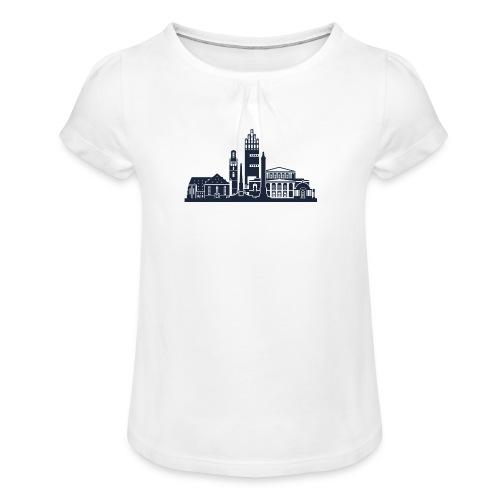 Darmstadt - Mädchen-T-Shirt mit Raffungen