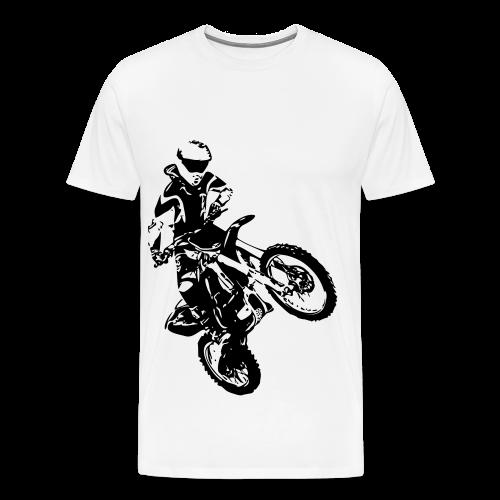 Mannen t-shirt met crossmotor - Mannen Premium T-shirt