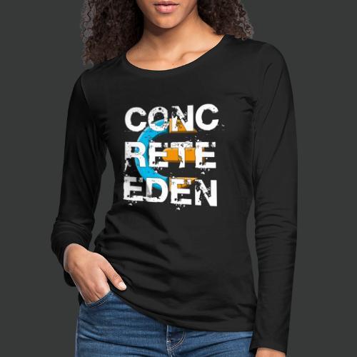 Concrete Eden Blue Yellow - Frauen Premium Langarmshirt