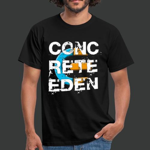Concrete Eden Blue Yellow - Männer T-Shirt