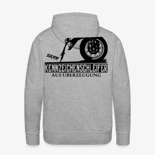 Schleifer Pulli schwarzes Logo - Männer Premium Hoodie