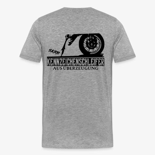 Schleifer Shirt Schwarzes logo - Männer Premium T-Shirt