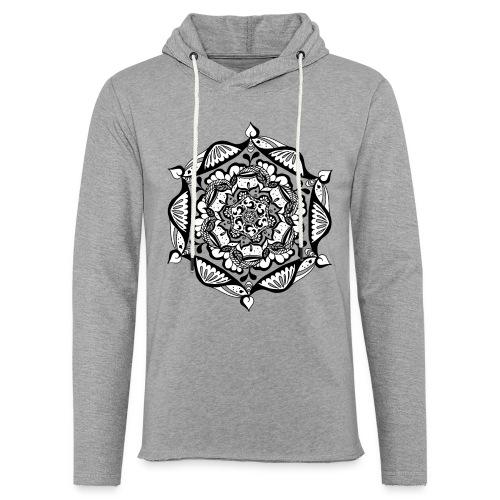 Leichtes Kapuzenswetshirt - Mandala Flower (Unisex) - Leichtes Kapuzensweatshirt Unisex