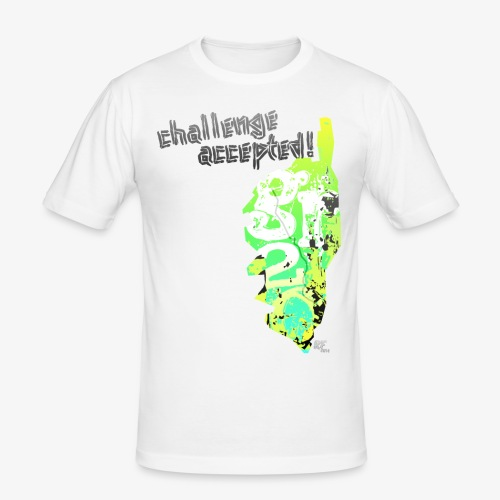 rf20 - challenge accepted - Männer Slim Fit T-Shirt