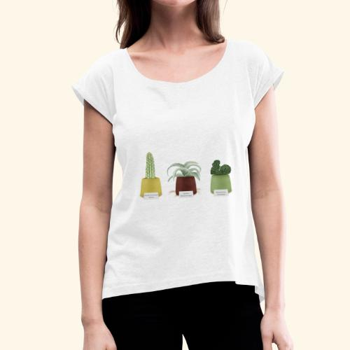 Maglietta da donna con risvolti