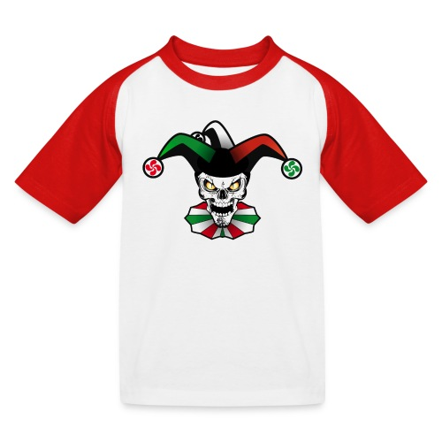 Basque skull arlequin - T-shirt baseball Enfant