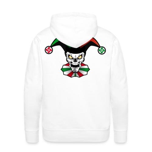 Basque skull arlequin - Sweat-shirt à capuche Premium pour hommes