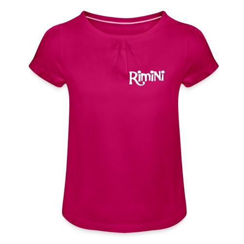 Maglietta da ragazza con arricciatura