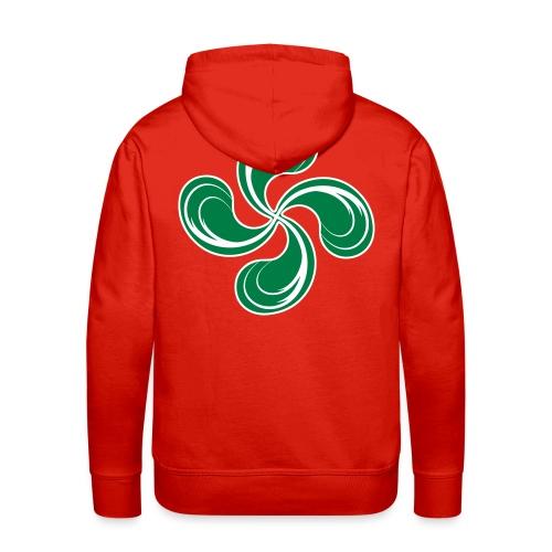 Croix Basque stylisée - Sweat-shirt à capuche Premium pour hommes