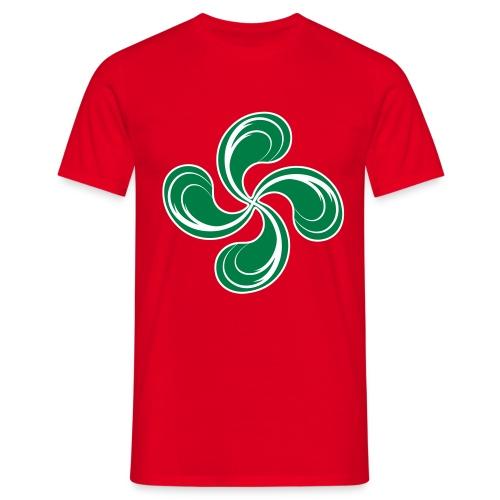 Croix Basque stylisée - T-shirt Homme
