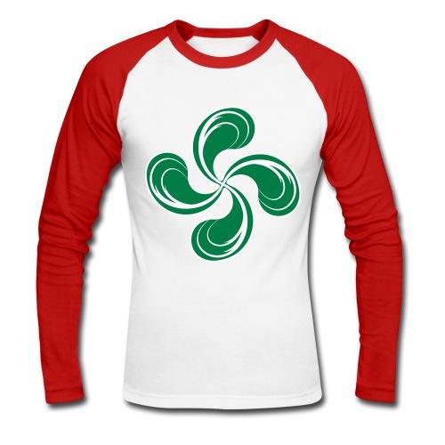 Croix Basque stylisée - T-shirt baseball manches longues Homme
