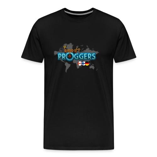 Black-only-front - Miesten premium t-paita