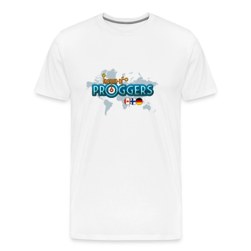 White-only-front - Miesten premium t-paita