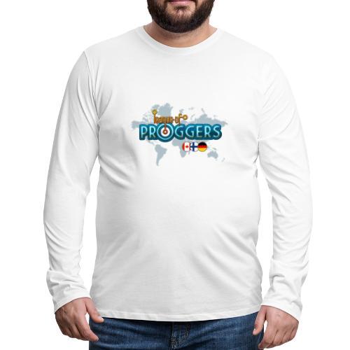 White-only-front - Miesten premium pitkähihainen t-paita