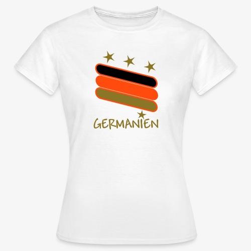 Deutschland Fußball Shirt D 1 - Frauen T-Shirt