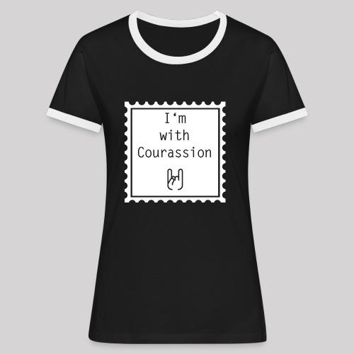 I'm with Courassion Stamp Black Women - Frauen Kontrast-T-Shirt