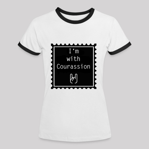 I'm with Courassion Stamp White Women - Frauen Kontrast-T-Shirt