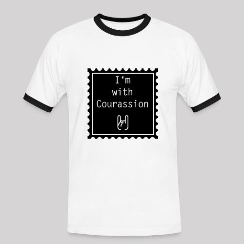 I'm with Courassion Stamp White Men - Männer Kontrast-T-Shirt