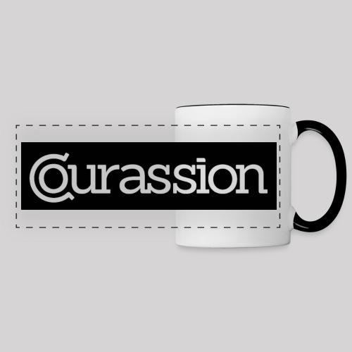 Mug Courassion black/white - Panoramatasse