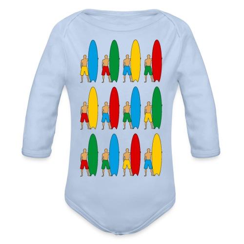 Surfing - Organic Longsleeve Baby Bodysuit