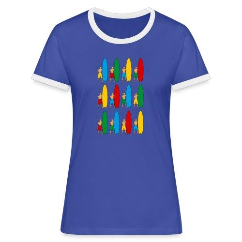 Surfing - Women's Ringer T-Shirt